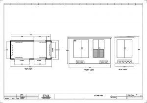 Concrete Substation 5.450 x 2.500 x 3.530 mm