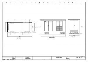 Concrete Substation 6.000 x 2.500 x 3.530 mm