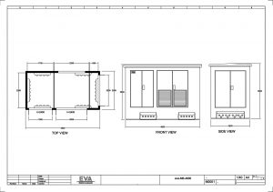 Concrete Substation 4.800 x 2.500 x 3.530 mm