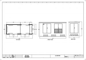 Concrete Substation 6.500 x 2.500 x 3.530 mm