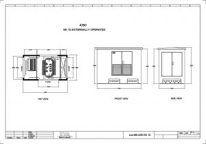 Concrete Substation 4.350 x 2.500 x 3.530 mm