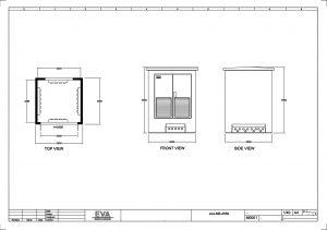 Concrete Substation 2.550 x 2.500 x 3.530 mm