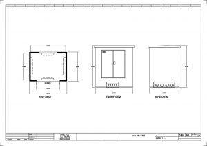 Concrete Substation 3.200 x 2.500 x 3.530 mm