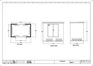 Concrete Substation 3.800 x 2.500 x 3.530 mm