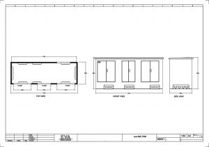 Concrete Substation 7.500 x 2.500 x 3.530 mm