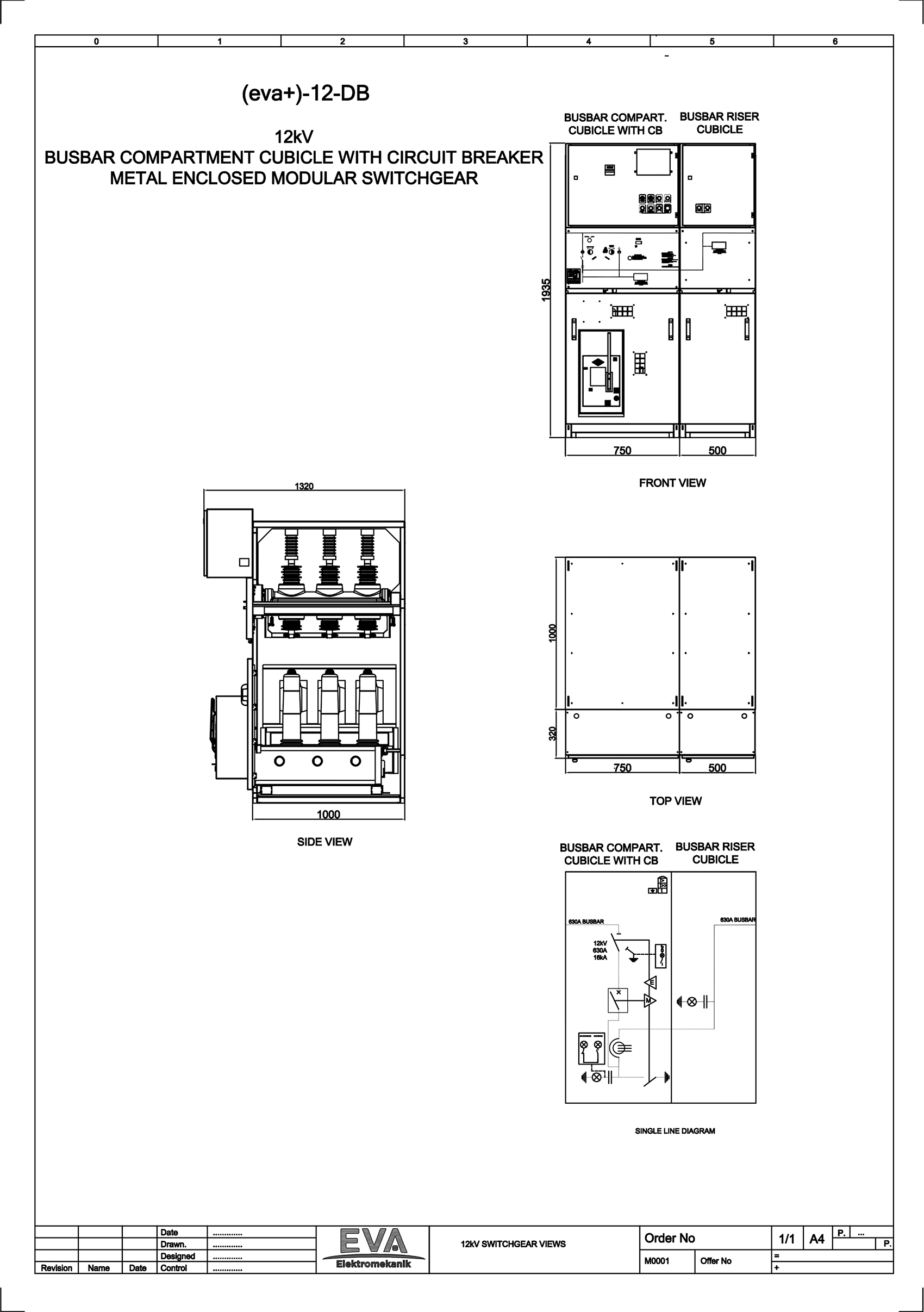 Busbar Compartment Cubicle with Circuit Breaker (CB)