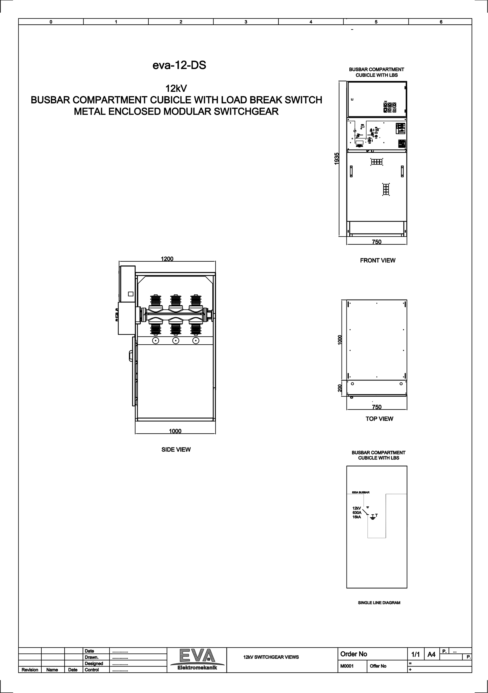 Busbar Compartment Cubicle with Load Break Switch (LBS)