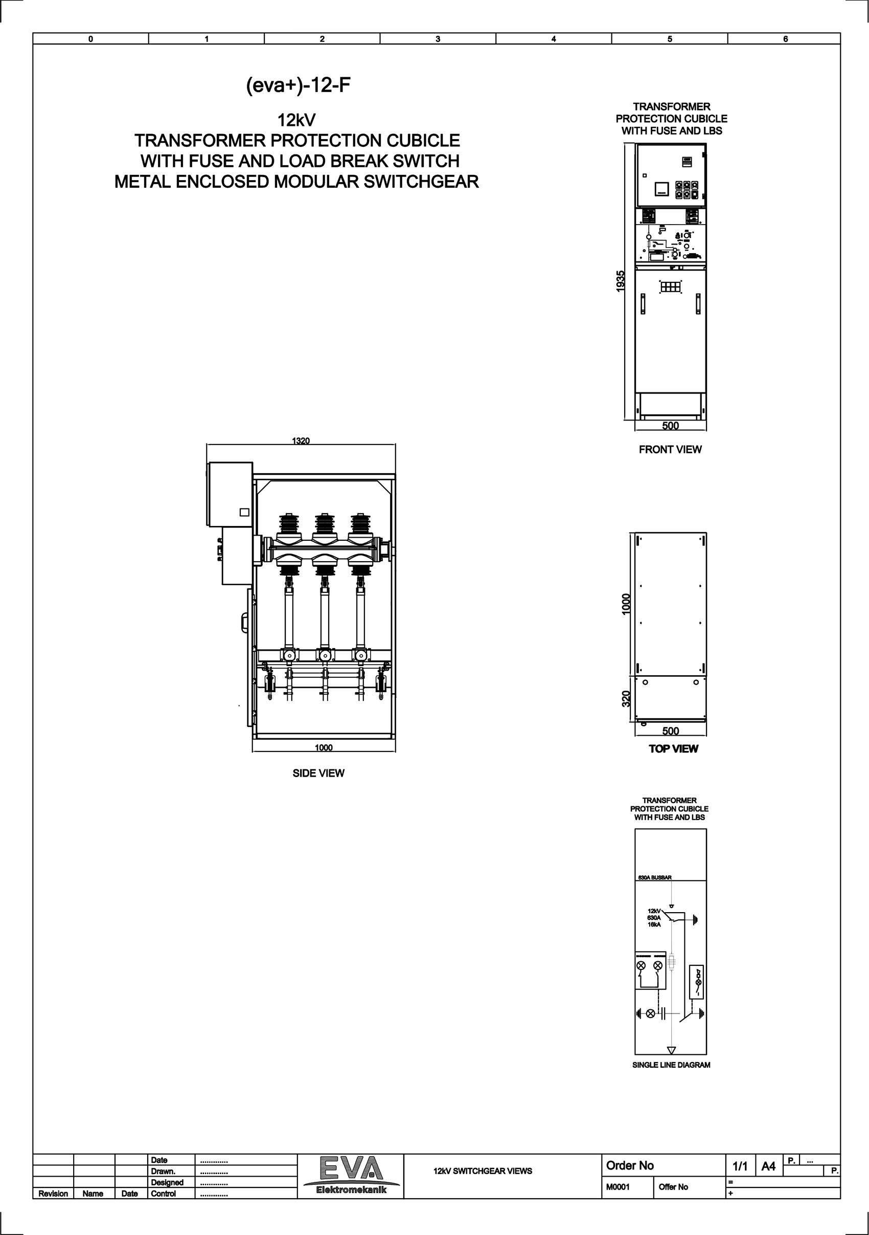 Transformer Protection Cubicle with Fuse and Load Break Switch (LBS)
