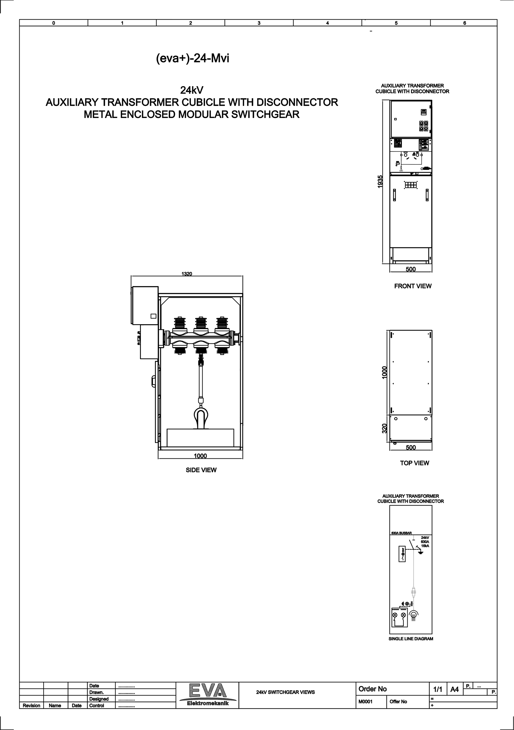 Auxiliary Transformer Cubicle with Disconnector