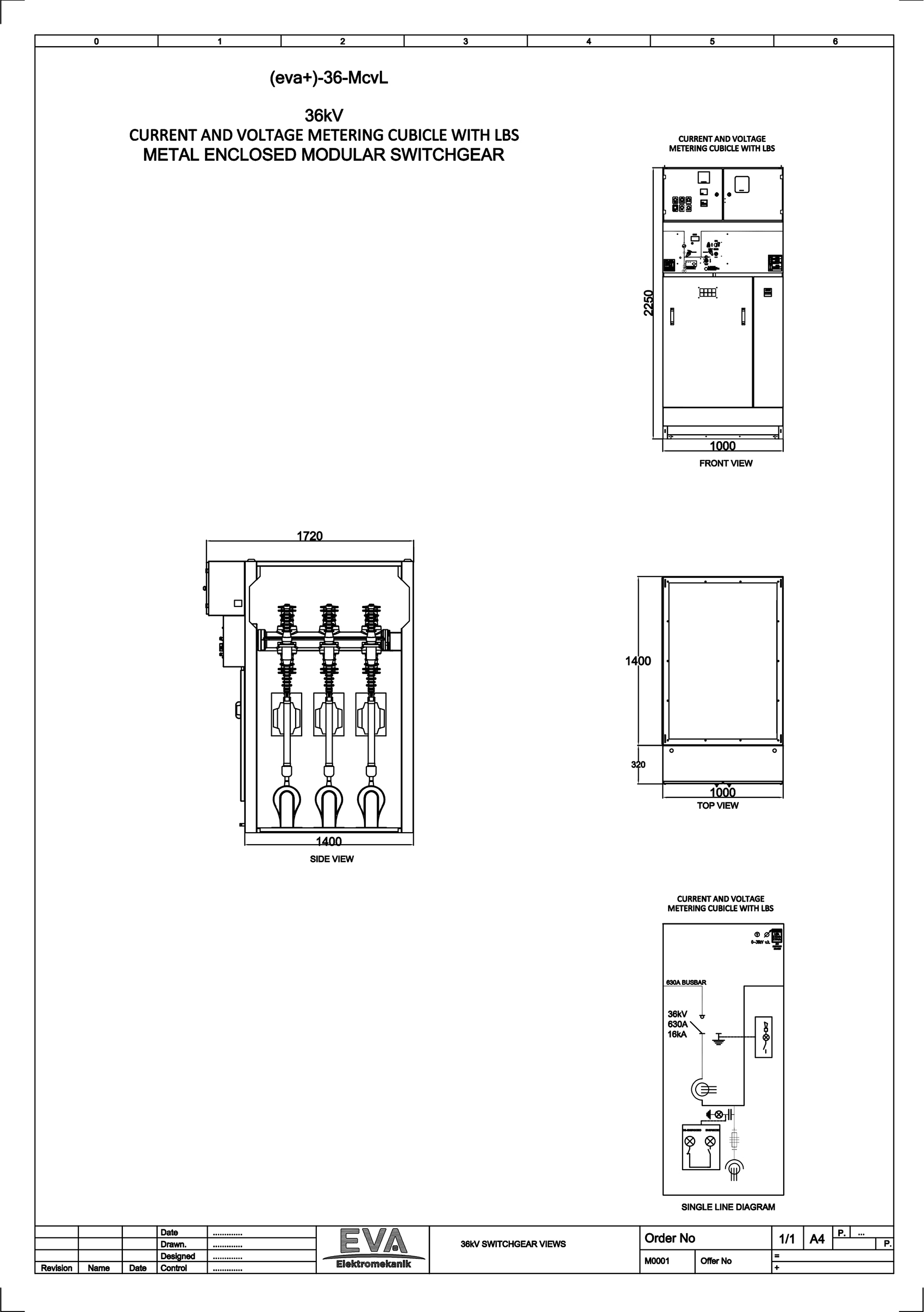 Current and Voltage Metering Cubicle with Load Break Switch (LBS)