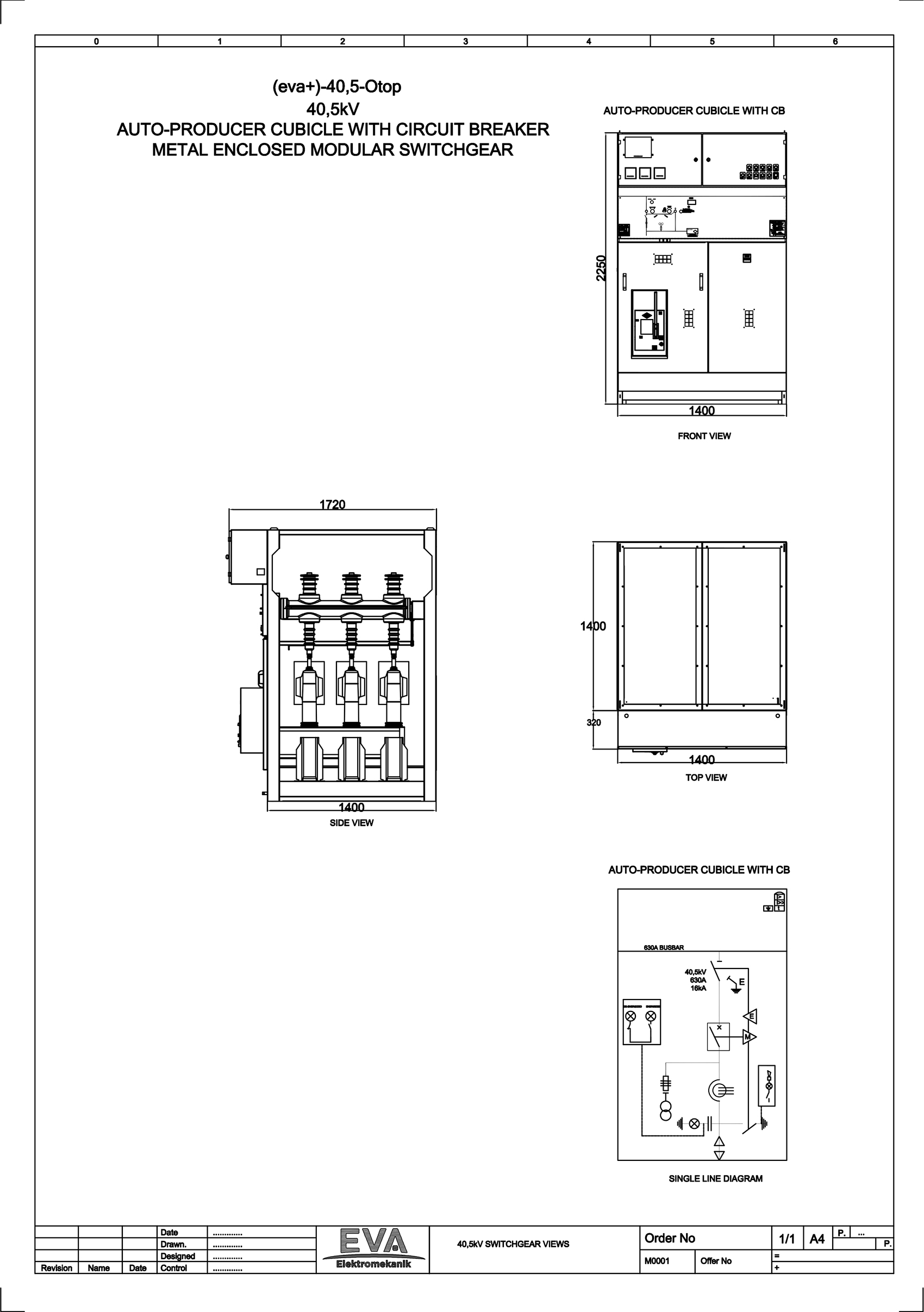 Auto-Producer Cubicle with Circuit Breaker (CB)