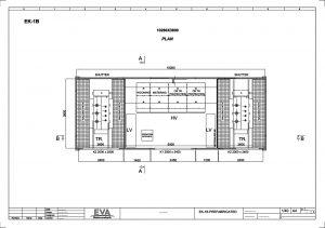 Prefabricated Concrete Transformer Substation 10.280 x 3.800 x 3.140 mm