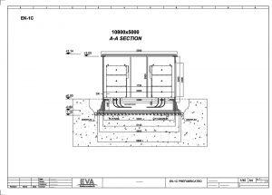Prefabricated Concrete Transformer Substation 10.800 x 5.000 x 3.140 mm