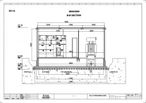 Prefabricated Concrete Transformer Substation 6.800 x 3.800 x 3.140 mm