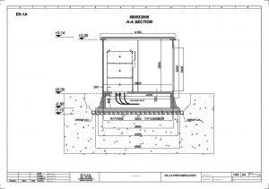 Prefabricated Concrete Transformer Substation 6.800 x 3.800 x 3.140 mm